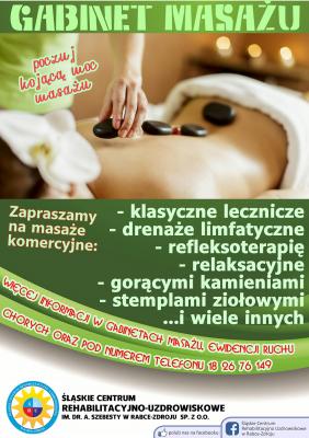 Zapraszamy na masaże wykonywane przez naszych specjalistów!