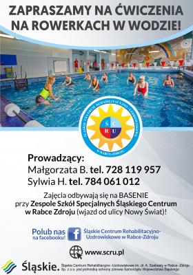 Zapraszamy na trening w wodzie na ROWERACH!